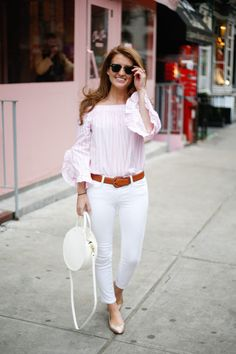 a30cbfa65f1a5 AFFORDABLE PINK OFF THE SHOULDER TOP. Pink And White ...