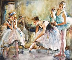 Bev Jozwiak Bev Jozwiak has earned her signature status in the American Watercolor Society, the National Watercolor Society, Wate. Art Ballet, Ballet Dancers, Watercolor Portraits, Watercolor Paintings, Watercolors, Figure Drawing, Painting & Drawing, Artist Point, Acrylic Painting Techniques