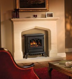Pot Belly Stove Electric Fireplace | Electric stove ...