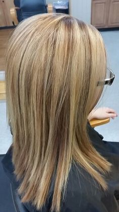 Lowlights & Highlights @ Roots Hair Design Hair by Ashley Winters