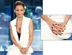 I've never really been a fan of long nails, but Nicole Richie makes them look so cool and elegant.