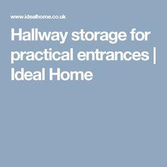 Hallway storage for practical entrances | Ideal Home