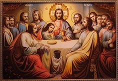 jrsx Jesus Pictures, Art Pictures, Da Vinci Last Supper, Jesus Last Supper, Jesus Christ Images, Jesus Painting, Indian Art Paintings, Rosary Catholic, Bible Prayers