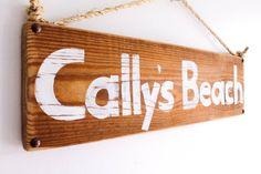 Personalized Beach Sign on Reclaimed Distressed Wood Beach Art Wooden Surf Sign Coastal Beach Surf Baby Nursery Beach Themed Kids Room