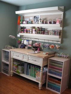 great wall unit for the scrapbooking room and/or craft room.