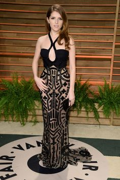 Oscars 2014 After Party Looks - Academy Awards 2014   Anna Kendrick wearing Atelier Versace
