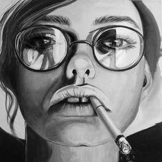 "Saatchi+Online+Artist+Jessica+Rae+Sommer;+Painting,+""Fluxing""+#art"