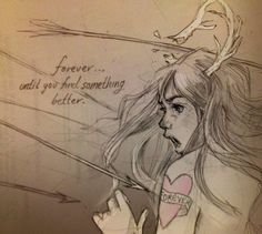 """""""Forever… until you find something better."""" Illustration by Chiara Bautista."""