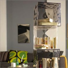 Salone Innamorarsi In Cucina Kartell In Tavola Salone - Colorful glass drawers that can form an art object