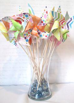 Rainbow Party Pinwheels