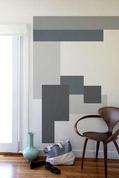 Wonderful Geometric Wall Paint Designs Creative Home Decor Ideas