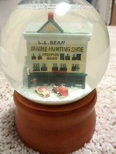 Vintage Glass ll Bean Snow Globe Snow Dome Maine Store   eBay