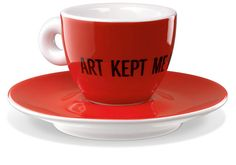 An exhibition of 286 espresso coffee cups designed by well-known artists. Jan Fabre, 2008