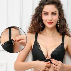 2a322af349 Wire Free BreastFeeding Bra Lace Cotton Maternity Nursing bra For Pregnant  Women Pregnancy Underwear Intimates 2018