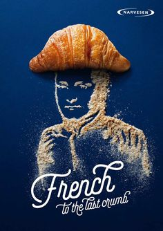 "Advertising for Narvesen with McCann Vilnius agency. The slogan says ""French to the last crumb! Ads Creative, Creative Advertising, Advertising Design, Marketing And Advertising, Creative Design, Creative Director, Food Advertising, Food Graphic Design, Design Art"