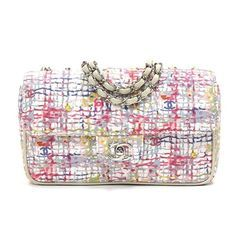 8ec75c8cdfae Image result for chanel limited edition watercolor canvas clover small flap  bag