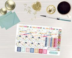 Pinning so I don't forget!! Remember to go back and check out Crafted By Corley on Etsy. Time for Tea - Transform My Planner Erin Condren Horizontal Life Planner Sticker Sticker Set Weekly View Sticker Horizontal Planner by CraftedByCorley