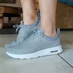 best sneakers 5c313 07e2a Nike Shoes   Nike Airmax Thea In Gray   Color  Gray   Size  8.5