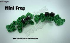 Rainbow Loom Mini Frog Charm tutorial by Izzalicious Designs Kate Schultz.