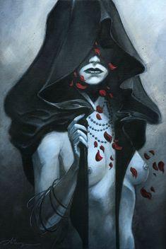 Faeryl Illykur; Drow High Priestess and leader of Szith Jmaath.