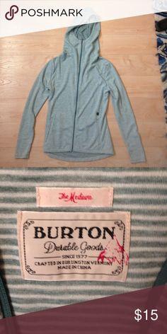 green striped Burton zip up hoodie Burton green with cream stripes zip up hoodie. Burton Tops Sweatshirts & Hoodies