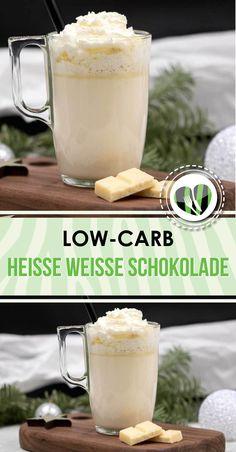 Die heiße weiße lowcarb Schokolade ist lecker und glutenfrei. Sie schmeckt sau lecker im Winter.