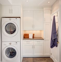 "Receive excellent pointers on ""laundry room stackable washer and dryer"". They are offered for you on our internet site. Laundry Room Remodel, Laundry Room Cabinets, Laundry Room Organization, Diy Cabinets, Upper Cabinets, White Cabinets, Laundry Dryer, Small Laundry Rooms, Laundry Room Design"
