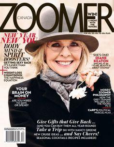 Diane Keaton - Zoomer Magazine Cover [Canada] (December 2012)