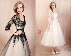 2013 New 3/4 Sleeves Black White lace wedding/Evening/Prom /Formal dress Gowns-omg i WANT THAT FIRST DRESS!!!! :DDDD
