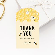 Bee Day Birthday Party Favor Tag Template, Bee-Day Favor Label, Gift Tag, Bee Day Birthday Thank You Label, Templett Baby's First Birthday Gifts, Gold Birthday Party, Baby Girl Birthday, Birthday Gifts For Girls, First Birthdays, Frozen Birthday, 2nd Birthday, Birthday Ideas, Bee Party Favors