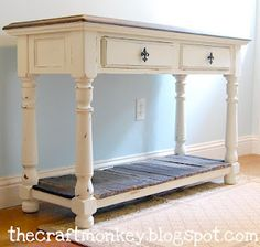 Console Table - Old White
