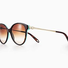 ed936ac2b75 Return to Tiffany® round sunglasses in tortoise and Tiffany Blue acetate.