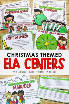 The holiday season can be a struggle to keep students engaged and learning. However, these hands on literacy centers are perfect for your 2nd and 3rd graders and will keep them engaged and learning in your room! Students will practice parts of speech, possessive nouns, synonyms, main idea, and several more activities. It includes 8 total literacy centers that are all aligned to common core and state standards. Grab these Christmas themed literacy centers today! Literacy Stations, Literacy Skills, Literacy Centers, Literacy Activities, Teaching Resources, Possessive Nouns, Main Idea, Parts Of Speech, Sixth Grade
