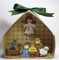 Paper Nativity, paper of the stable! Christmas Nativity Set, Nativity Crafts, Noel Christmas, Christmas Projects, Holiday Crafts, Nativity Sets, Happy Birthday Jesus, Sunday School Crafts, Bible Crafts