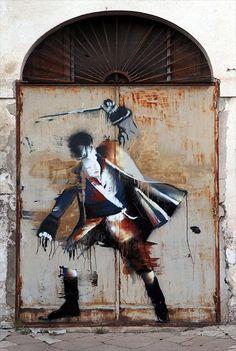 graffiti by Conor Harrington in Italy