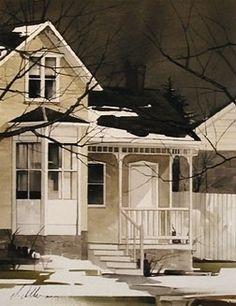 Winter Sky by Joseph Alleman Watercolor, 2005