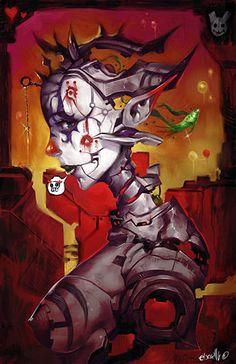 Painterly Clown by =elsevilla on deviantART