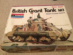 1:32 MODEL BRITISH GRANT TANK M3 MONOGRAM VINTAGE UNUSED | eBay
