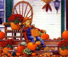 decorating for the fall and harvest season   Fall Porch Decorating Idea   #fall #autumn #decorating #decor # ...