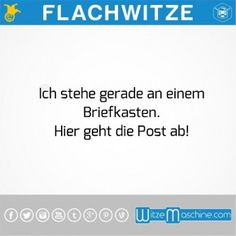 Flachwitze - Wortspiel Briefkasten