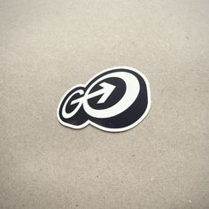 """Get this cute little 2"""" sticker of the Go Media """"GO"""" logo."""