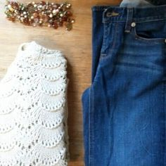 J. Crew denim Denim cropped...great with flats or booties J. Crew Jeans Ankle & Cropped