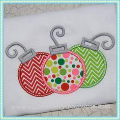 Christmas Ornament Applique Shirt for girls!