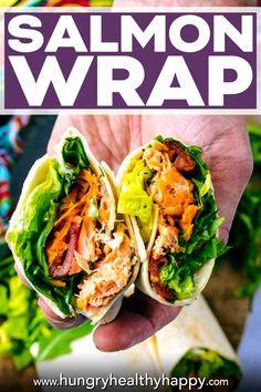 Salmon Wrap, Gluten Free Wraps, Healthy Wraps, Potato Sides, Cooking Salmon, Salmon Fillets, Salad Ingredients, Tray Bakes