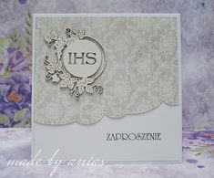 Karteczkowo Ani S: Propozycje zaproszeń na I Komunię Świętą Diy And Crafts, Paper Crafts, First Communion, Invitation Cards, I Card, Cardmaking, Ali, Scrapbook, Flowers