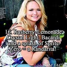 Miranda Lambert's drink ---- I still have this written in my phone from when she said this at her concert!!!!