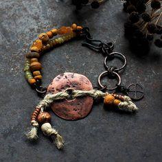 Solar cross bracelet copper donut bracelet norse amulet