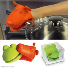 Hotheads - potholder critters that can take the heat..