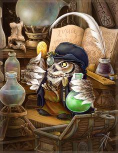 owl alchemist by napluvayka on deviantART ( Via: Sanja J. )
