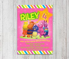 Backyardigans Invitation for Birthday Party by InkSprinkles